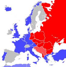 Europa mapa 1951