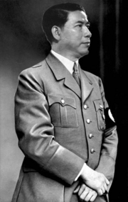 Leopold Valento in political uniform (Atomic World Map Game)