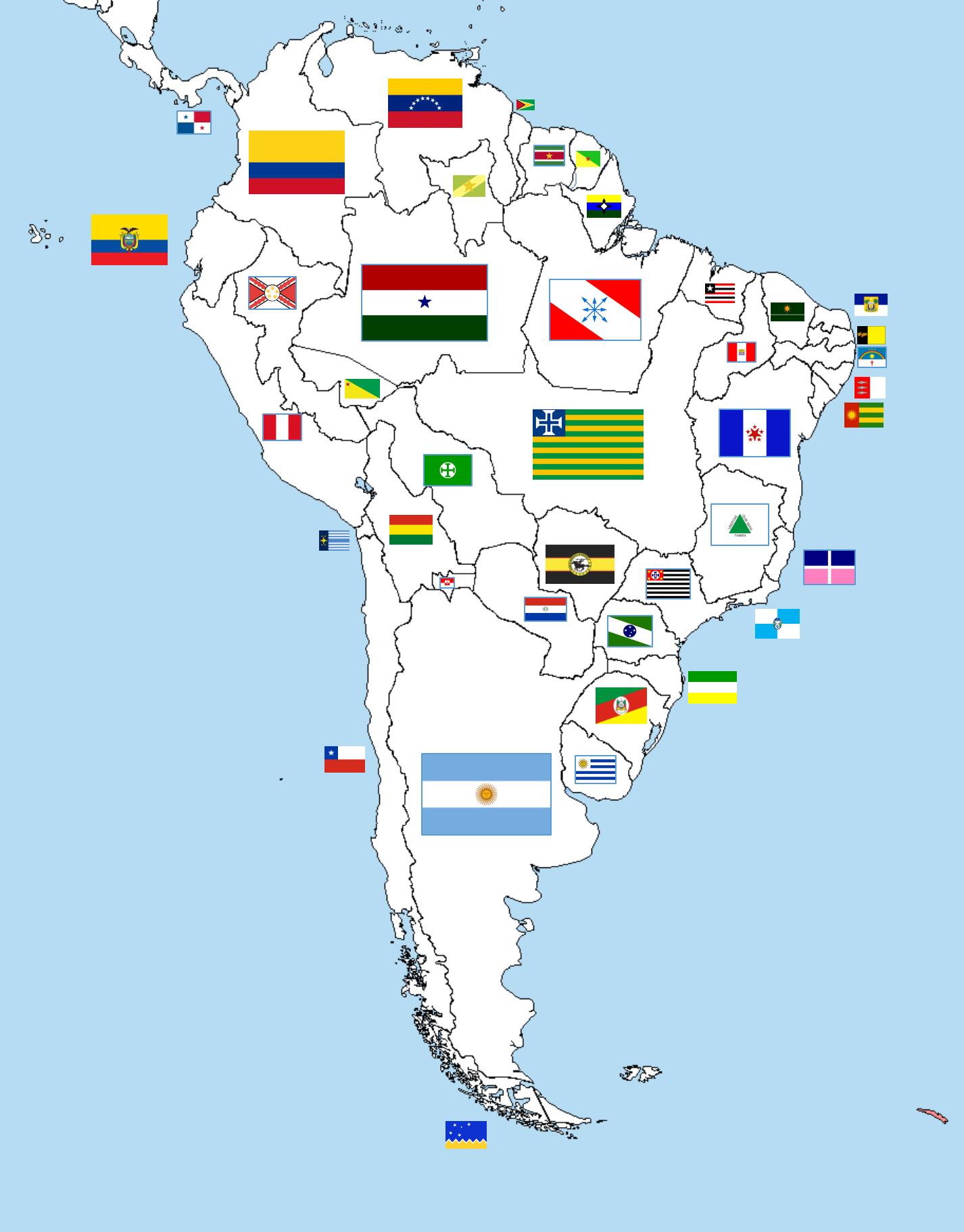 Imagen - Mapa sur america (Los Paises Inviables de la Ola ...