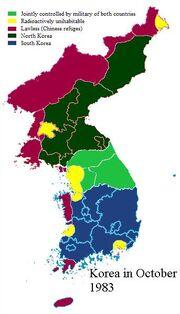 Korean political zones OCT 83