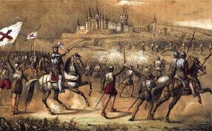 1853, Los mártires de la libertad española, vol I, Padilla levanta el sitio de Segovia (cropped)