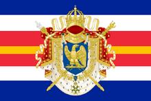 Flagge der französisch-spanischen Personalunion
