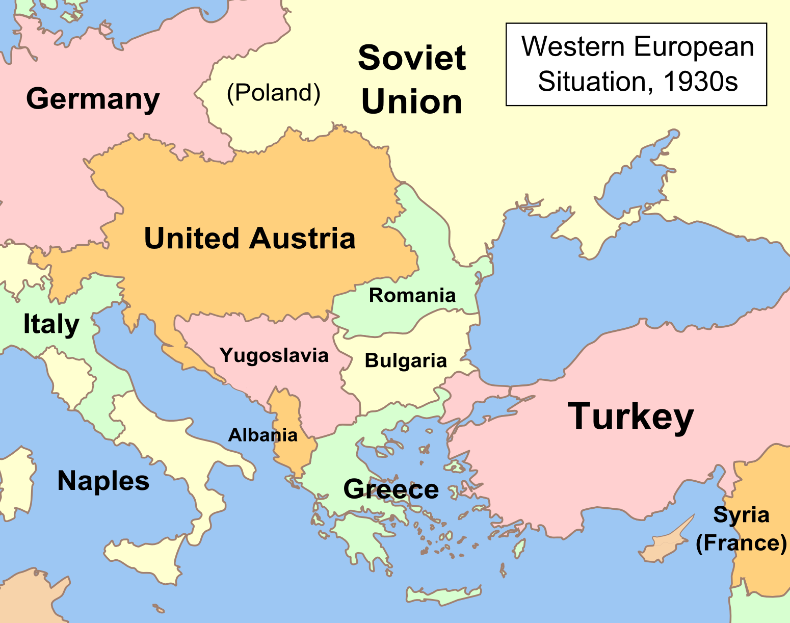 1930s Map Of Europe.Map Of Europe In The 1930s Papegaaienparadijs