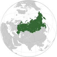 Russian Federation (orthographic projection)