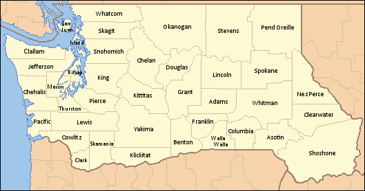 Image - Washington state county map (Alternity).png | Alternative ...