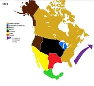 Map of north america before CSA-UK