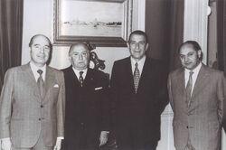 Gustavo Lorca junto a Frei Montalva, Luis Pareto y Humberto Aguirre