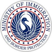 Seal of the Cygnian Ministry of Immigration and Border Protection