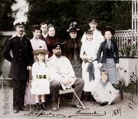 Александр III с семьёй