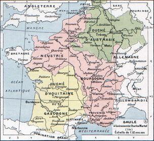 Франкское королевство в 714 году