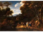 Jan Baptist Huysmans - Arcadian landscape