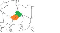 Algeria,niger,libya map