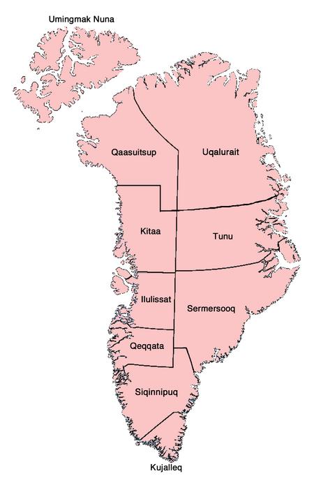 Provinces of Greenland VINW 3