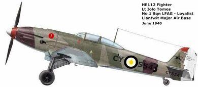 Aircraft heinkel he 112 miguel entrena klett