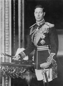 King George VI of England, formal photo portrait, circa 1940-1946