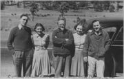 Leon Trotsky and American admirers. Mexico - NARA - 283642