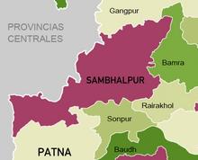 Sambhalpur mapa