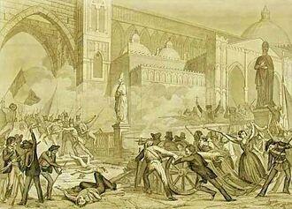 Sanesi - La rivoluzione di Palermo-12 gennaio 1848 - ca. 1850