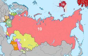 Республики СССР - МПСИ