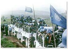 Cascos Azules de la ONU en Brasil.