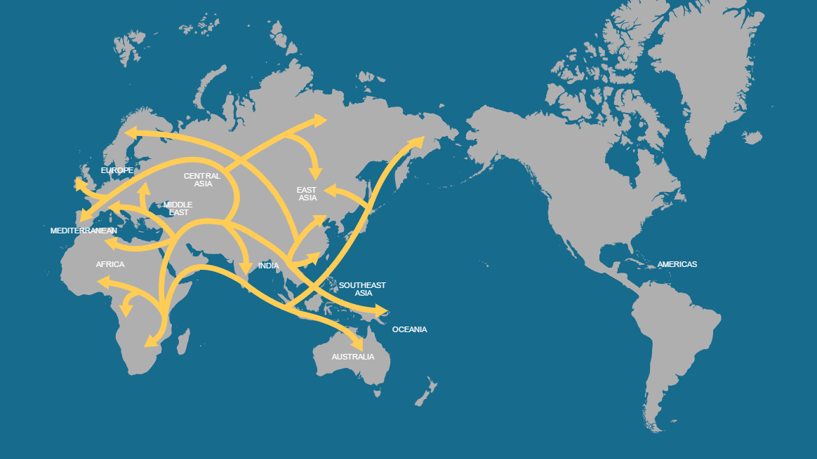 image map of human migration blank slate png alternative