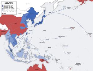 Second world war asia 1937-1942 map de
