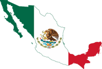 Flag map Mexico