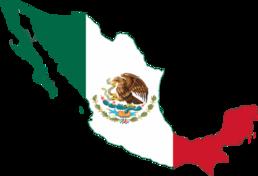 Flag map Mexico
