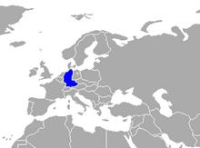 Alemania Occidental mapa