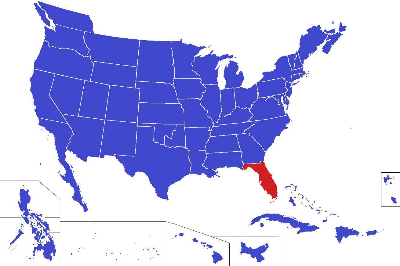 Florida On Us Map.Florida On Us Map Twitterleesclub