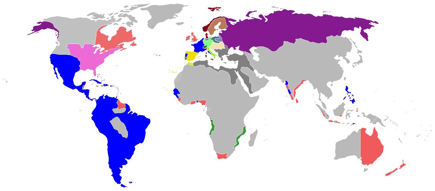 Image New Map of TBYA 1810 Alternative History