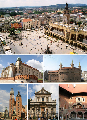 Collage of views of Cracow