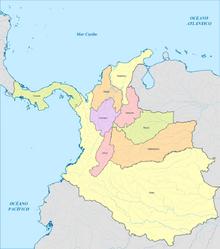 Colombia mapa 1886