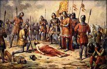 Josef Mathauser - Přemysl Otakar II. padl u Suchých Krut v den sv. Rufa 1278