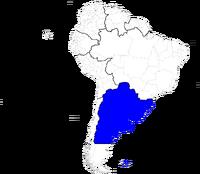 Mapa-Estados Unidos del Río de la Plata