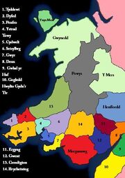 Political Map of Wales
