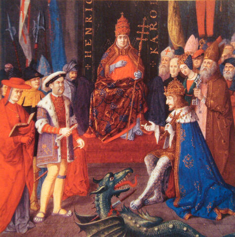 File:Henry VIII with Charles Quint and Pope Leon X circa 1520.jpg