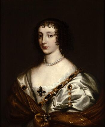 Portrait of Henrietta Maria (1609-1669), Queen of England, consort of Charles I from the studio of Sir Anthony Van Dyck