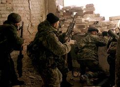 Российский спецназ в Грозном