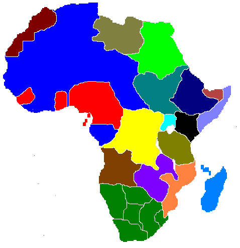 Image Africa Political Mappng Alternative History FANDOM - Africa political map without names