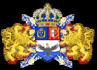 Escudo de armas del Reino Unido del Ecuador y Guayaquil-Cuenca