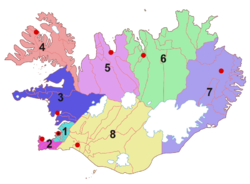 Regions of Iceland