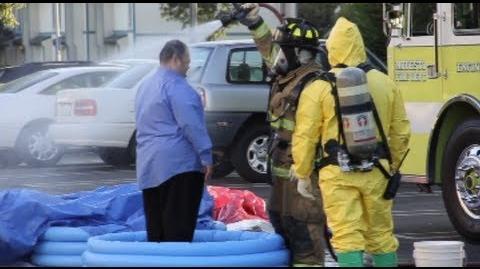 Hazmat Team Operation - Biohazard At Bank In Modesto, California - Raw Video