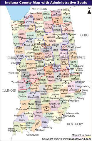 Image Indianacountyseatmapjpg Alternative History FANDOM - Indiana county map