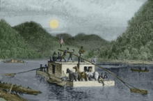 Wilderman - George - Example of Flat Boat- Ohio River Pioneers