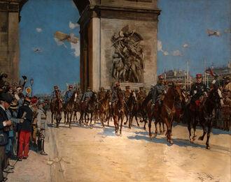 Парад в Париже