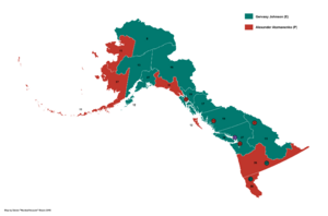2015 Alaskan Presidential Election Map (Russian America)