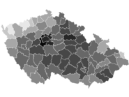 Czech parliament elections 2010 - districts, turnout