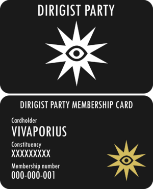 Vivaporius - Dirigist Party Membership Card
