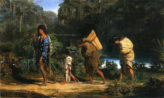 File:Louisiana Indians Walking Along a Bayou.jpg